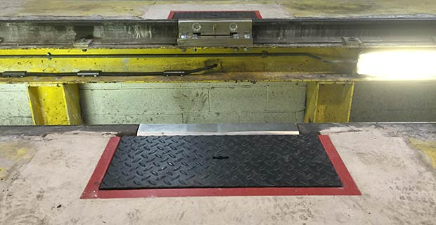 train depot weighing system
